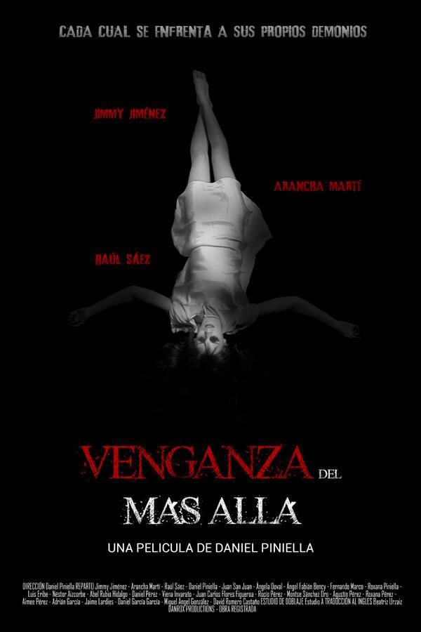 Cartel de la película de terror Venganza del más allá del escritor de terror español Daniel Piniella.
