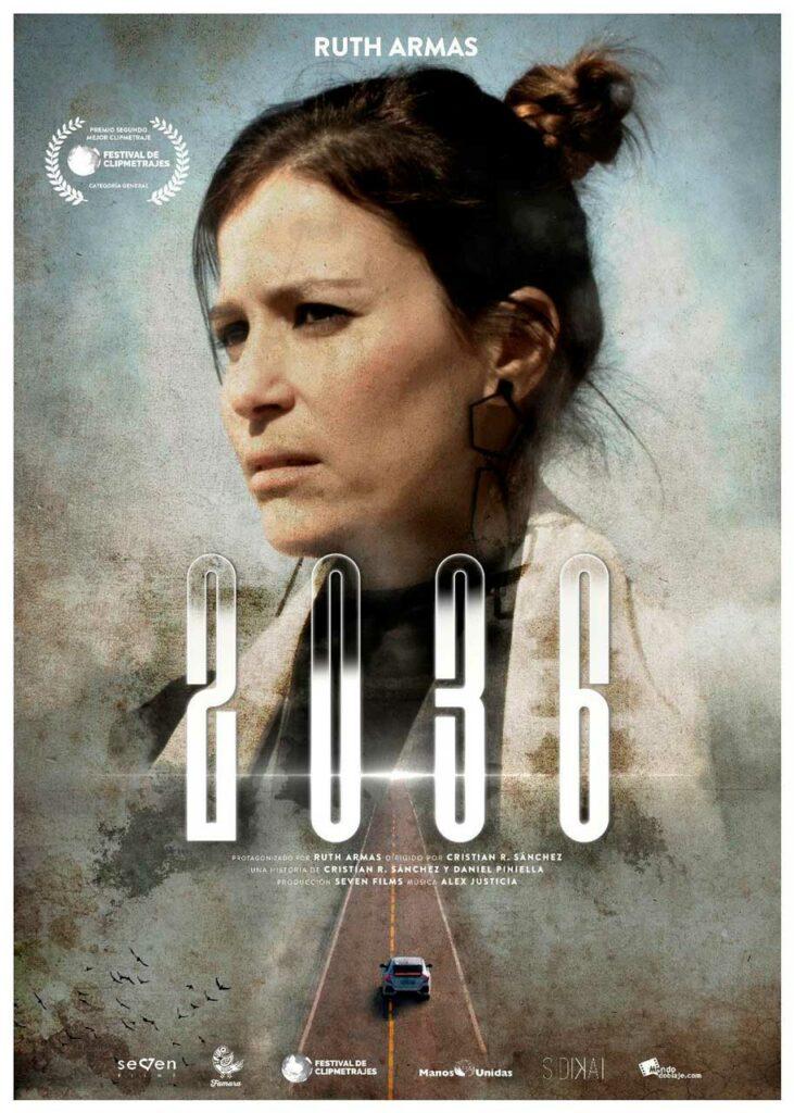 Cartel del cortometraje de ciencia ficción 2036